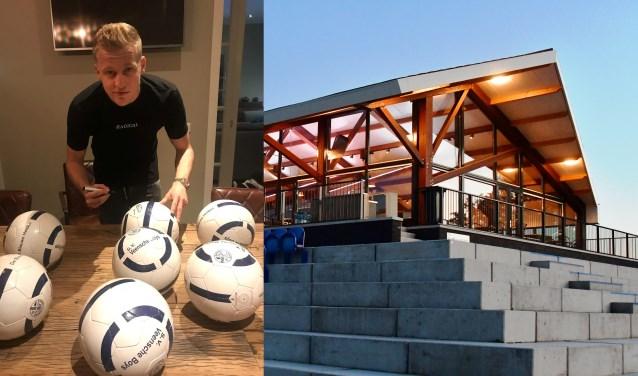 Op de eerste Winterfair bij voetbalvereniging Veensche Boys in Nijkerkerveen waren diverse voetballen te winnen, gesigneerd door Ajacied Donny van de Beek.