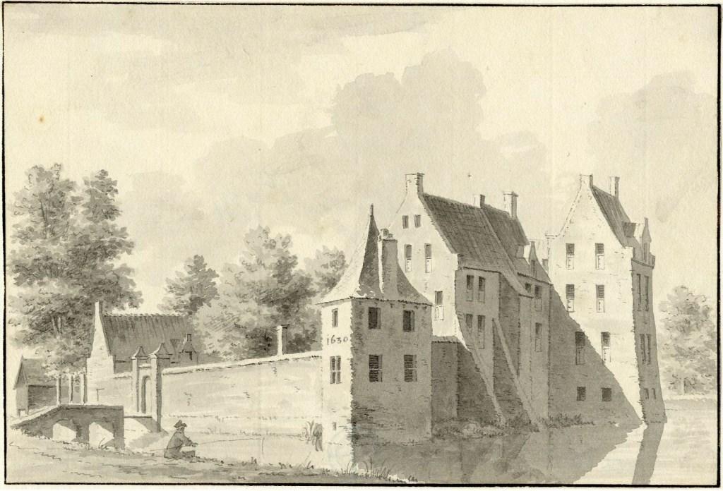 Kasteel Schalkwijk in 1732 Louis Philip Serrurier (collectie Het Utrechts Archief) © BDU media