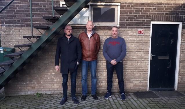 Het bestuur van Burgerinitiatief Woudenberg: Harro Bos, voorzitter Jacco van den Essenbur en Erik van Asselt.