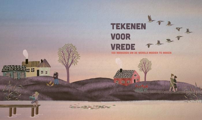 Titelpagina inspiratieboek Tekenen voor vrede