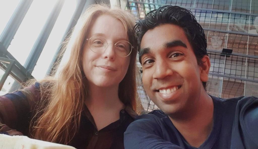 Selfie van Dieuwertje met een goede vriend Privecollectie © BDU Media