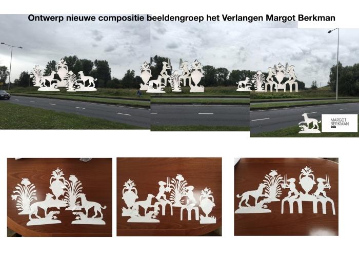 Nieuwe compositie beeldengroep het verlangen Duivendrecht Margot Berkman