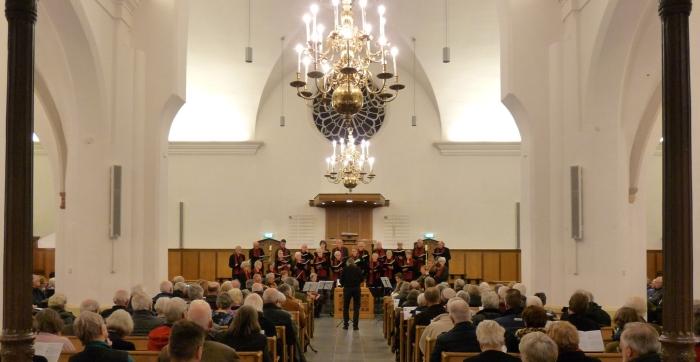 Het Bennekoms Vocaal Ensemble in de Oude Kerk van Bennekom