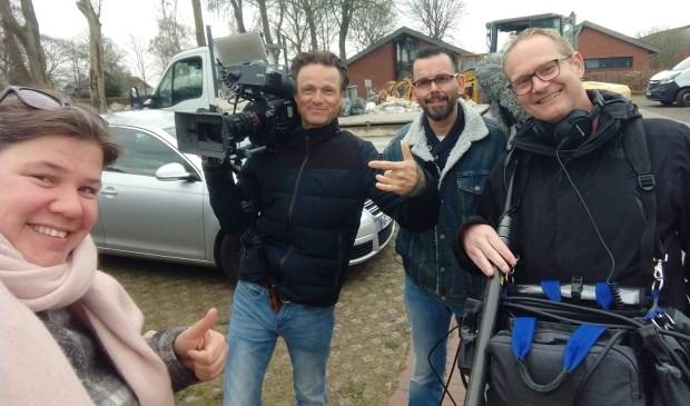 Links: Maranke Pater, tweede man van rechts: Olaf Koelewijn