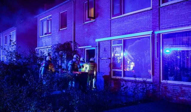 Om 2.05 uur werd er brand gemeld in een woning aan de Prof Kranenburglaan in Baarn.