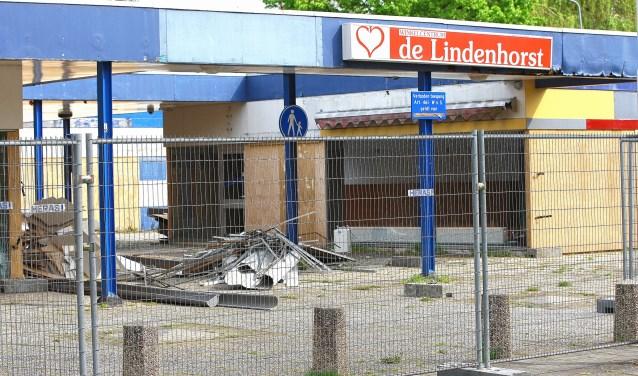 Winkelcentrum Lindenhorst is al jaren weg, maar op de plek is nog altijd geen nieuwbouw.