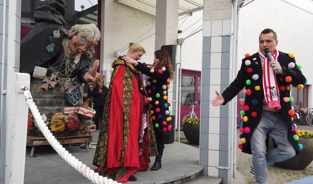 Vorig jaar werd nog wel carnaval gevierd bij de Nieuwe Doelen