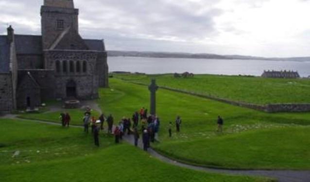 De start van een pelgrimage op het Schotse Iona