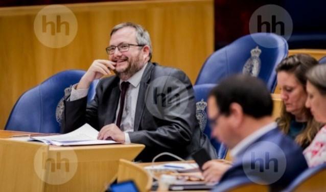 Frank Futselaars tijdens debat in de Tweede Kamer over het stikstofbeleid.