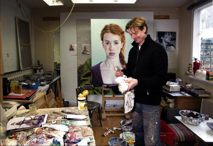 Herman Tjepkema in zijn atelier
