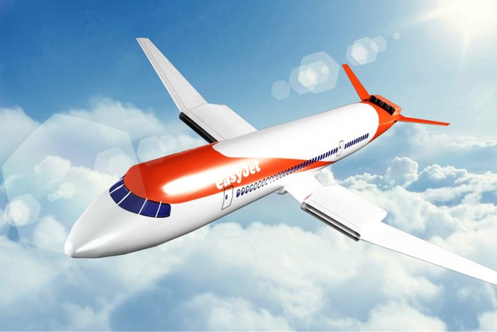 Zo moet het elektrische vliegtuig van Easyjet voor ongeveer 150 passagiers eruit gaan zien. Wright Electric © BDU media