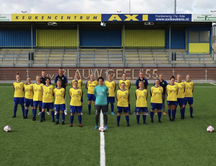 Blauw Geel '55 vrouwen 1