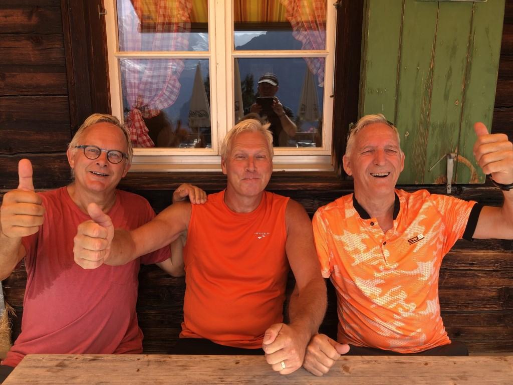 Hennie Derks, Fred Van de Vecht en  Wim Jacobs zijn er helemaal klaar voor.