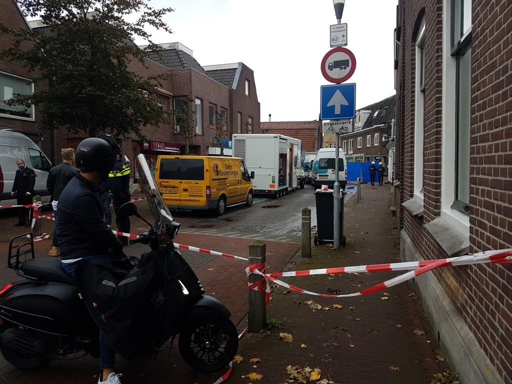 Dorpsstraat afgesloten.