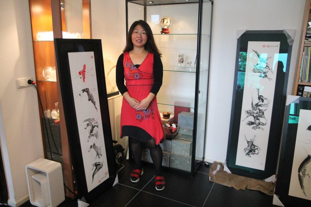 An: ,,Ik gebruik zowel aquarel, acryl als olieverf maar heb geen speciale stijl.'' Hannie van de Veen © BDU media