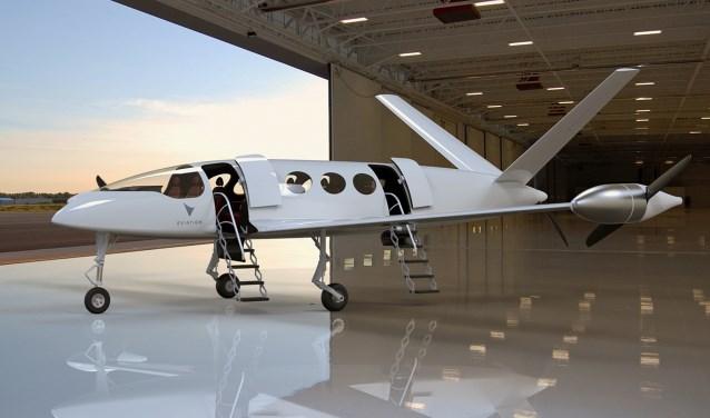 Het elektrisch aangedreven vliegtuig 'Alice' van Eviation Aircraft uit Israël.