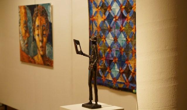 Werk van de drie kunstenaars bij elkaar.