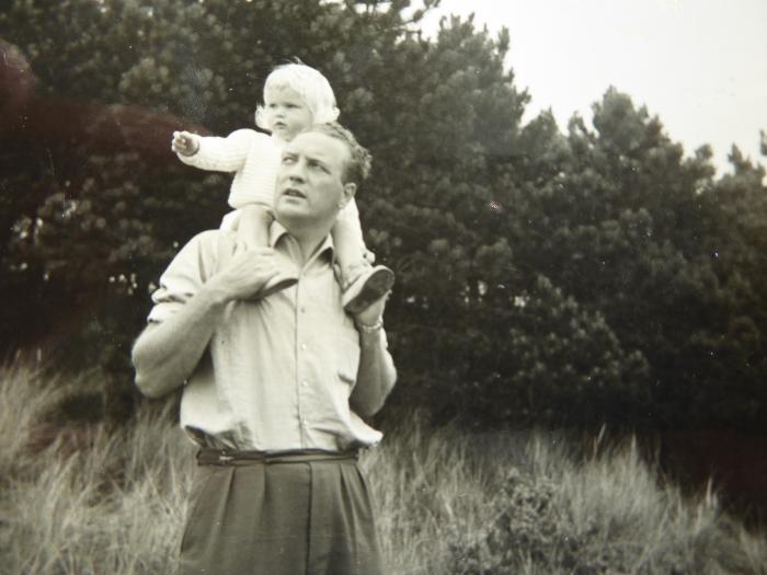 vader Jan met dochter Eveline