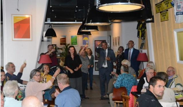 Burgemeester Frits Naafs draagt de soepwedstrijd een warm hart toe