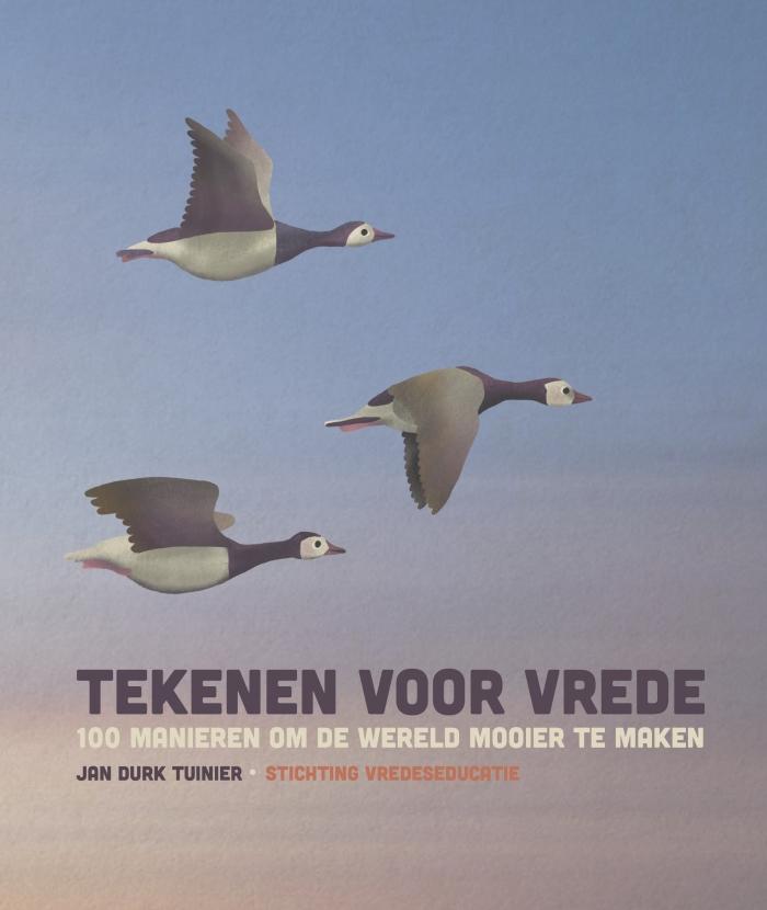 De cover van het boek Tekenen voor Vrede Ontwerp: Marieke De Beurs © BDU Media