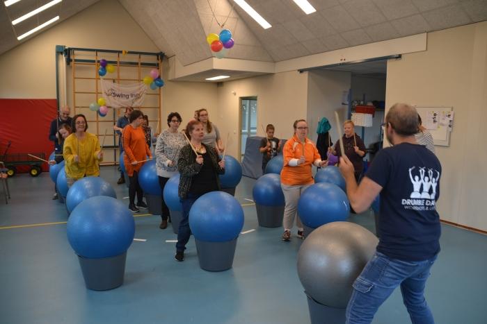 Workshop tijdens jubileumfeest