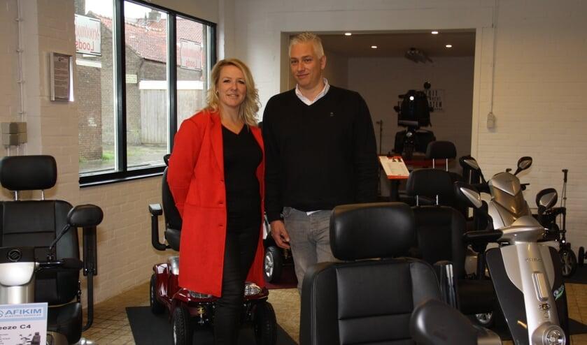 Dennis en Marion Dorrestein in hun nieuwe zaak.