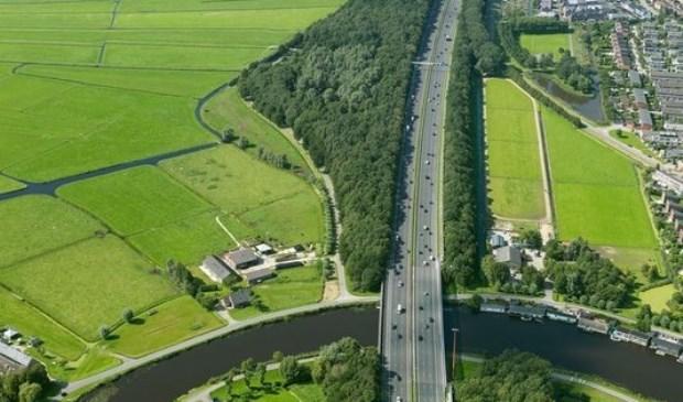 De A9 bij Ouderkerk aan de Amstel.