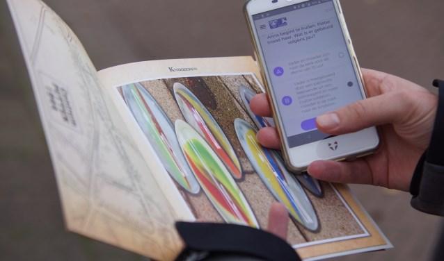 De Experienceroute kan gelopen worden met een app en routeboekje.