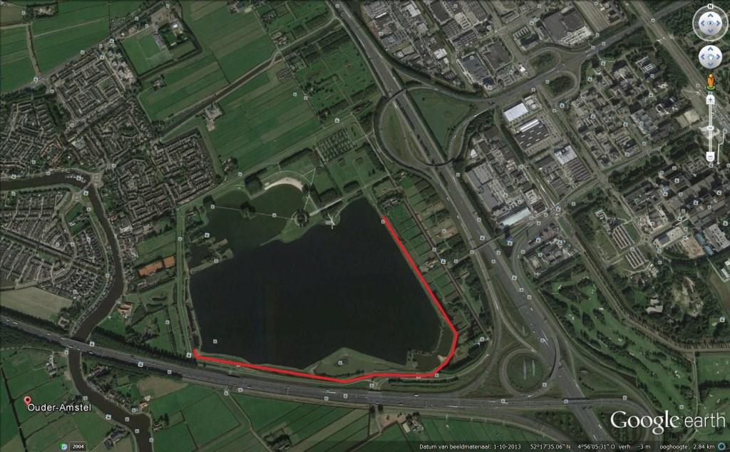 Afsluiting voetpad Ouderkerkerplas. Groengebied Amstelland © BDU media