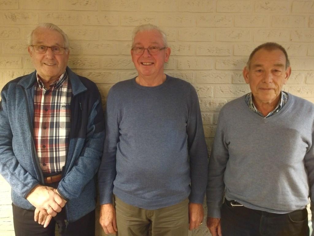 Drie van de oudste leden van de vereniging: Thomas Oostindie, Henk Schipper en Evert van Werkhoven. Maranke Pater © BDU Media
