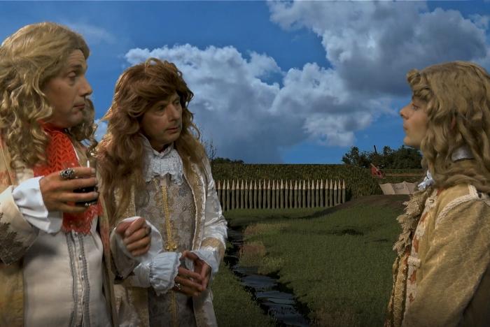 Niels Groffen (rechts) als prins Willem III filmbeeld: Femke van der Linden, achtergrond: VizVis © BDU Media