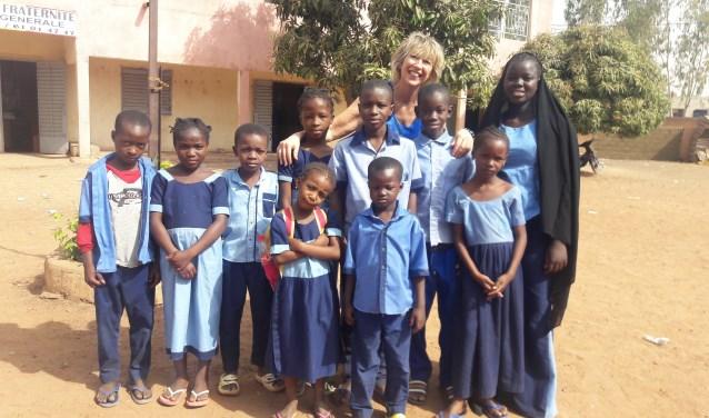 De gesponsorde kinderen van de lagere school in Bamako.