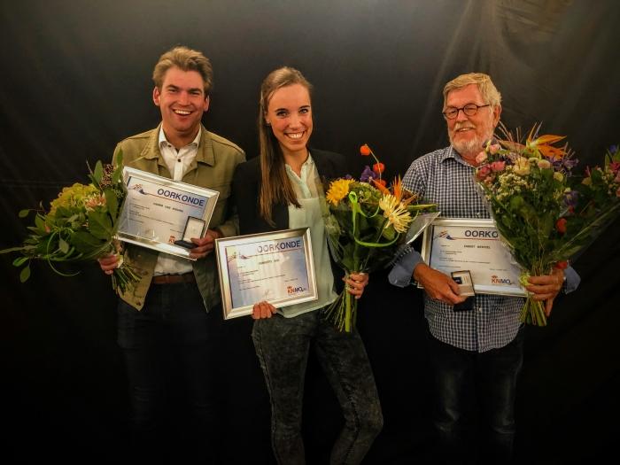 Vlnr Casper van Mourik, Henriette Vos, Egbert Wentzel