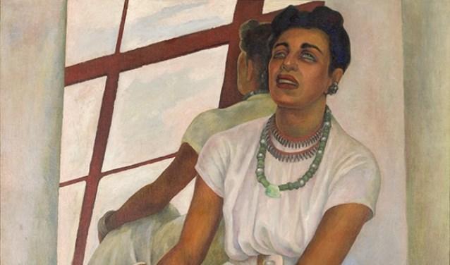 Diego Rivera, Retrato de Lupe Marin, 1938 (fragment).