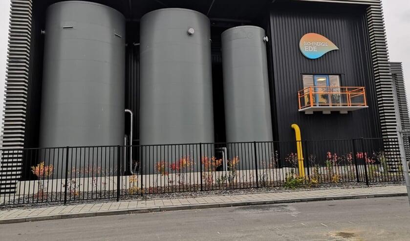 De biomassacentrale nabij de Kenniscampus Ede aan de Geerweg, tussen Zandlaan en Reehorsterweg.