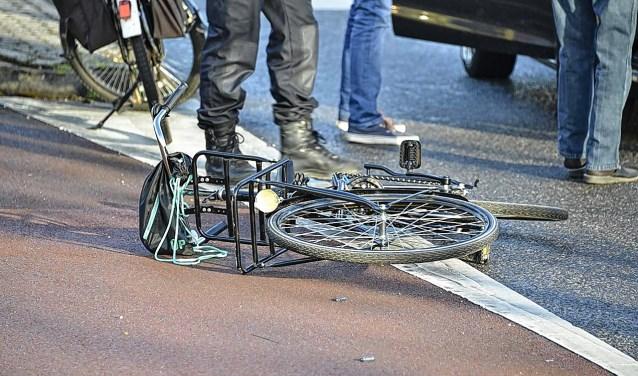 Een fietser is betrokken geraakt bij een ongeval.