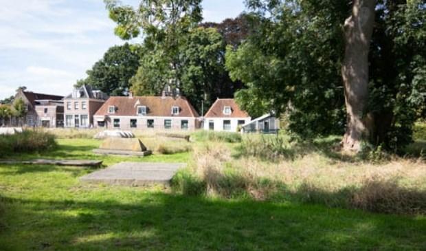 De plek waar het 'kasteel' van Gijsbrecht van Aemstel gestaan zou hebben.