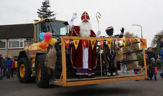 Sinterklaas kon gemakkelijk over de Hessenweg in zijn shovel.