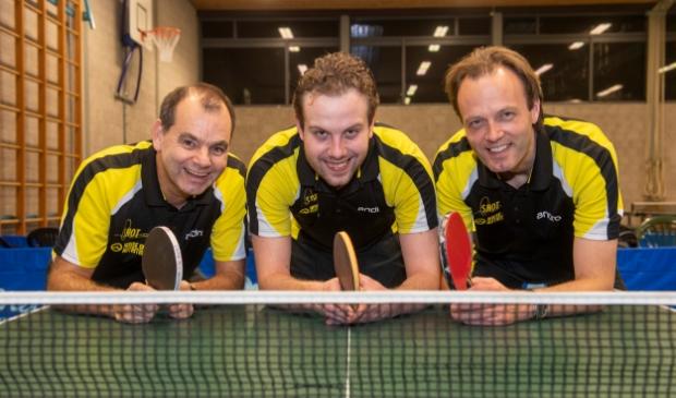 <p>Hans van Gool, Axel Diemers en Ren&eacute; de Gier (v.l.n.r.) vormen ook dit jaar met Martin Fransen SHOT 1.</p>