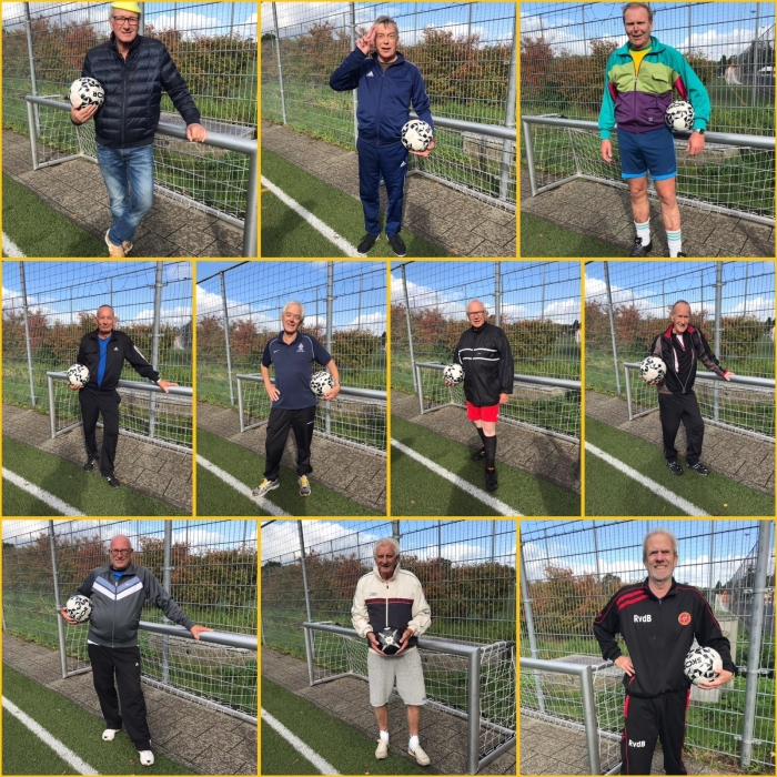 Deelnemers Walking Football