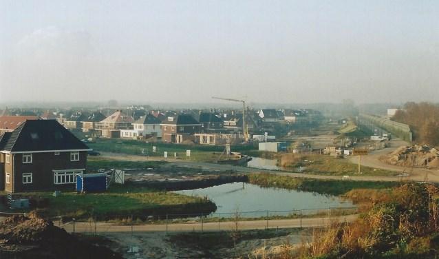 De wijk Tabaksteeg in Leusden-Zuid in aanbouw.