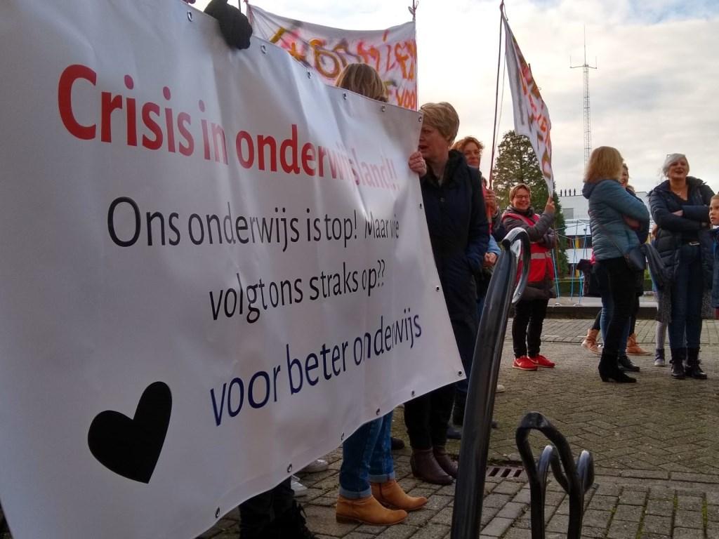 Duidelijke taal van de leerkrachten op het Raadhuisplein. Johan van Beek © BDU media