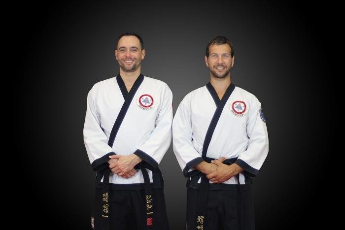 De hapkido trainers v.l.n.r. Willem en Ricky Rachid Hogerhuis © BDU