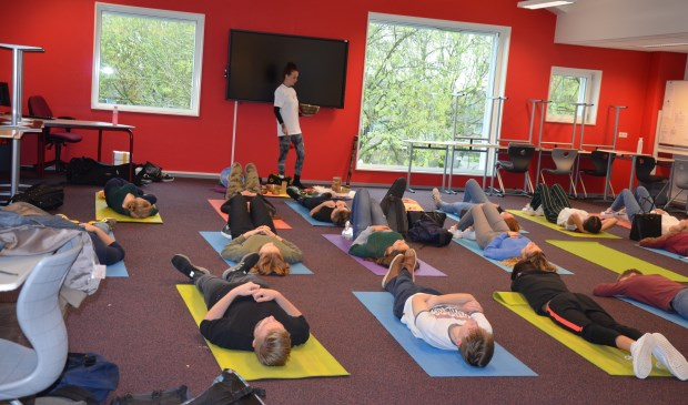 Voor de meeste leerlingen helemaal nieuw: mediteren