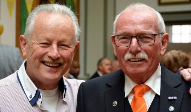 Ben van der Meij (rechts) was 50 jaar aan Zang en Vriendschap verbonden.