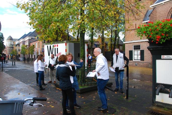 Wij Putten hield afgelopen zaterdag een enquête in het centrum van Putten.