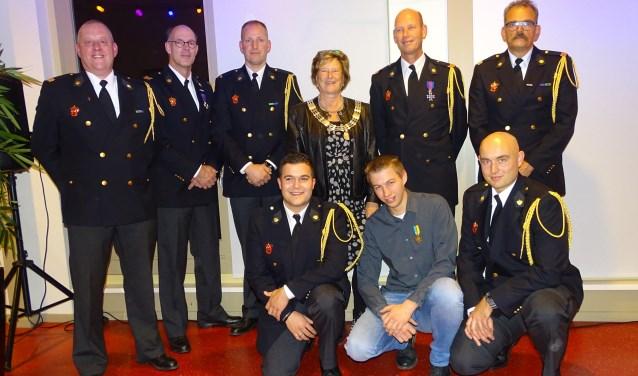 Diploma's en medailles voor brandweer