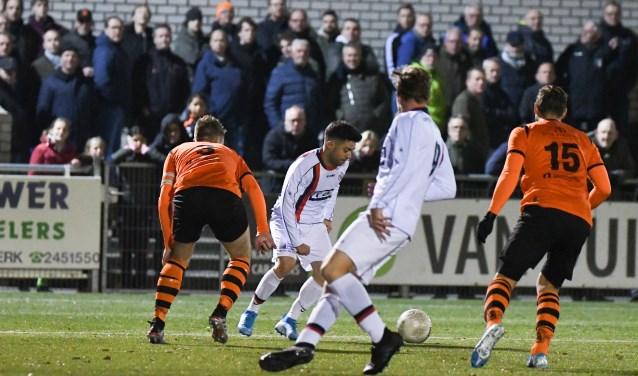 De winst op Fortuna Wormerveer van woensdag levert Sparta Nijkerk een thusiduel op tegen NAC Breda in de volgende ronde van de TOTO KNVB beker Aalt Guliker © BDU Media