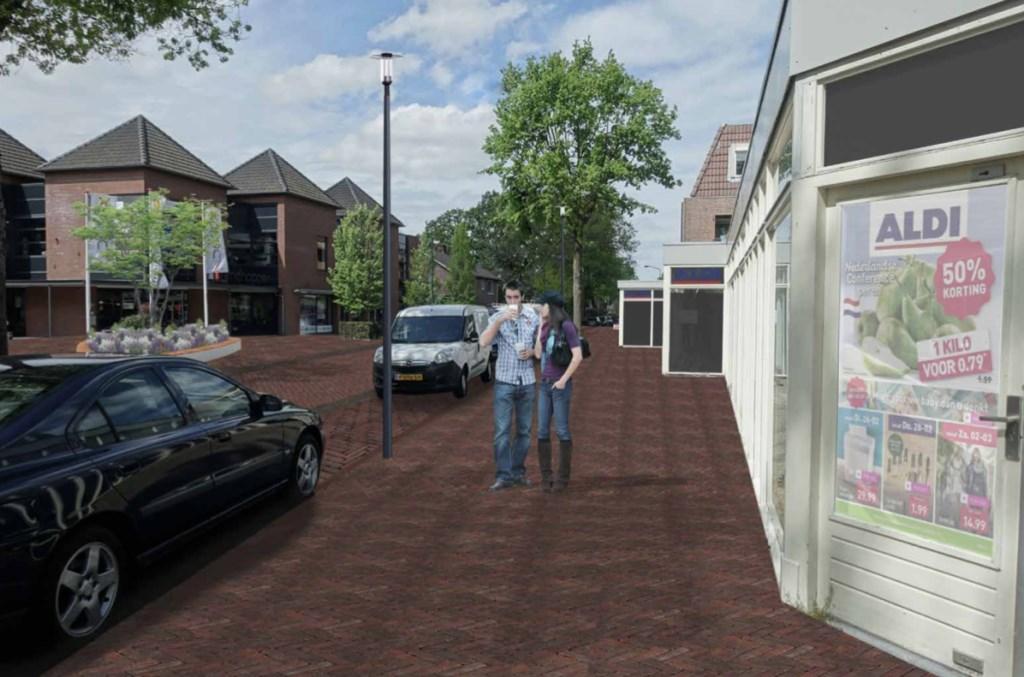 Winkelgebied t.h.v. Aldi en Trendhopper op de Hamseweg. Gemeente Amersfoort © BDU media