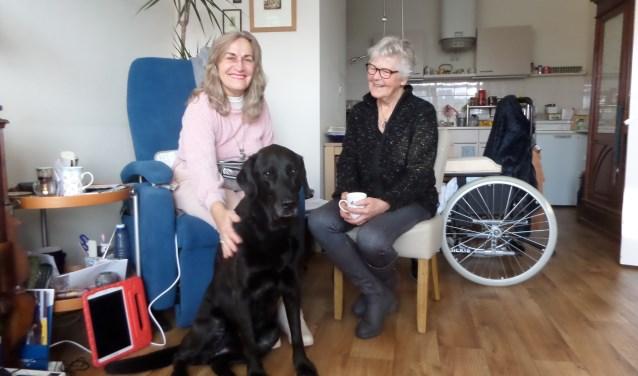 Deelneemster Carla Plantinga krijgt elke week bezoek van Igna van Engelen en Bob van Humanitas Vriendschappelijk Huisbezoek.